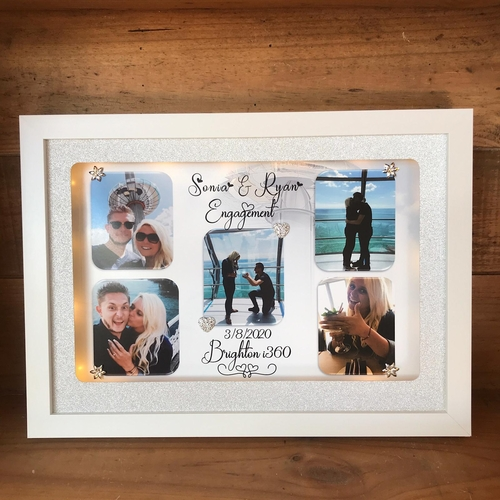 Personalised Engagement picture Frame