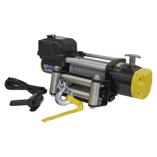 Recovery Winch 5675kg (12500lb) Line Pull 12V Industrial - Sealey - RW5675