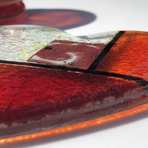 Mediterranean Red and Orange Coasters (Heart)