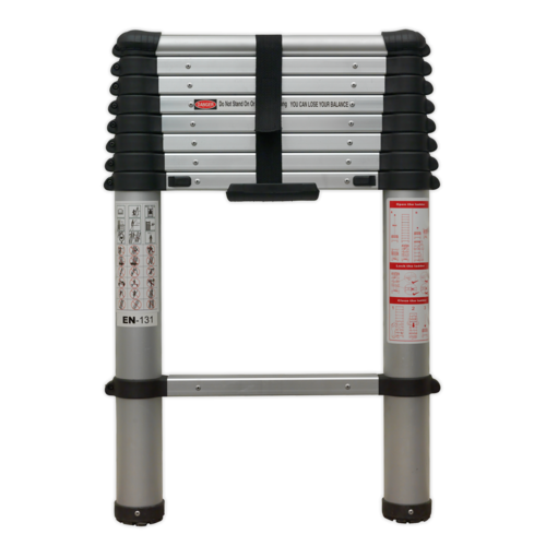 Aluminium Telescopic Ladder 9-Tread EN 131 - Sealey - ATL09