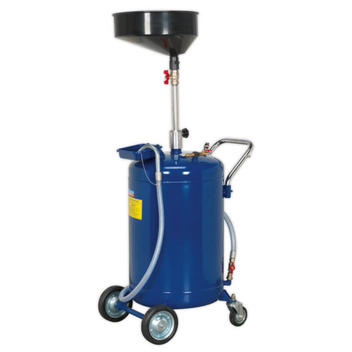 Mobile Oil Drainer 110L Air Discharge - Sealey - AK458DX