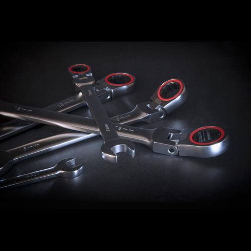 Flexi-Head Ratchet Combination Spanner Set 12pc Metric - Sealey - AK63942