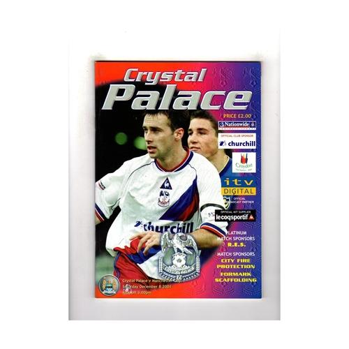 2001/02 Crystal Palace v Manchester City Football Programme