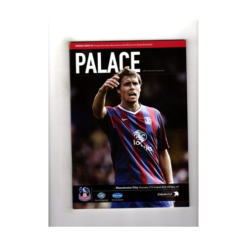 2009/10 Crystal Palace v Manchester City League Cup Football Programme