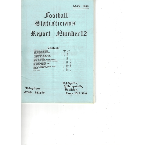 The Association of Football Statisticians Report No. 12