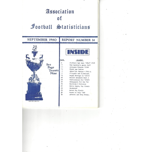 The Association of Football Statisticians Report No. 14
