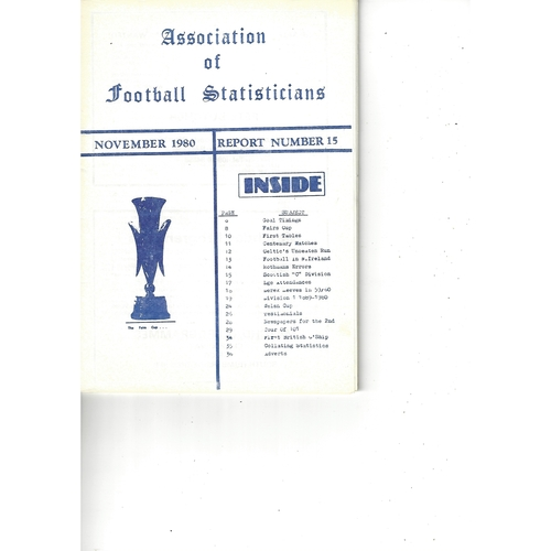 The Association of Football Statisticians Report No. 15
