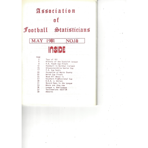 The Association of Football Statisticians Report No. 18