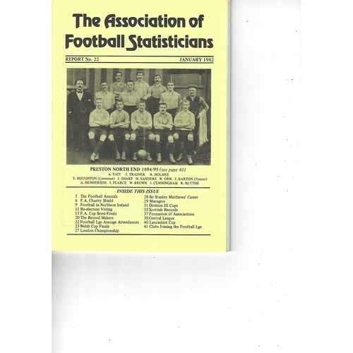 The Association of Football Statisticians Report No. 22