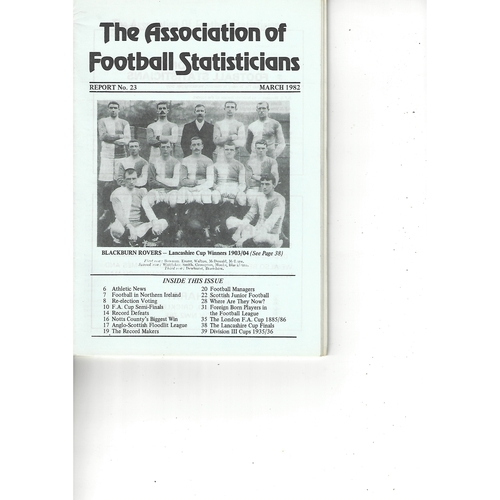 The Association of Football Statisticians Report No. 23
