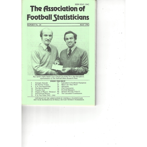 The Association of Football Statisticians Report No. 24