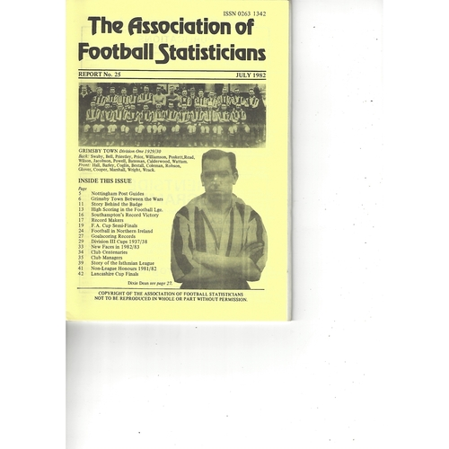 The Association of Football Statisticians Report No. 25