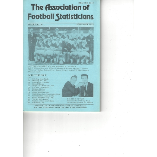The Association of Football Statisticians Report No. 26