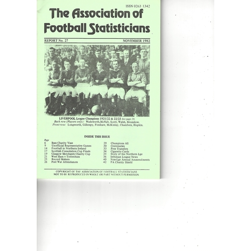 The Association of Football Statisticians Report No. 27