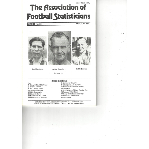 The Association of Football Statisticians Report No. 28