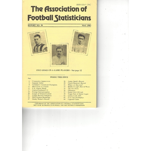 The Association of Football Statisticians Report No. 30