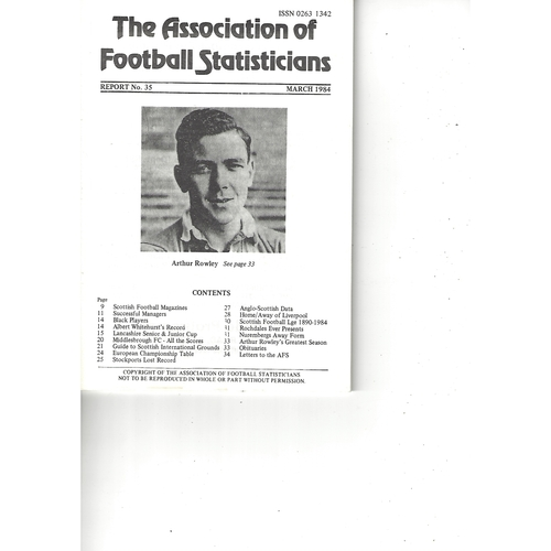 The Association of Football Statisticians Report No. 35