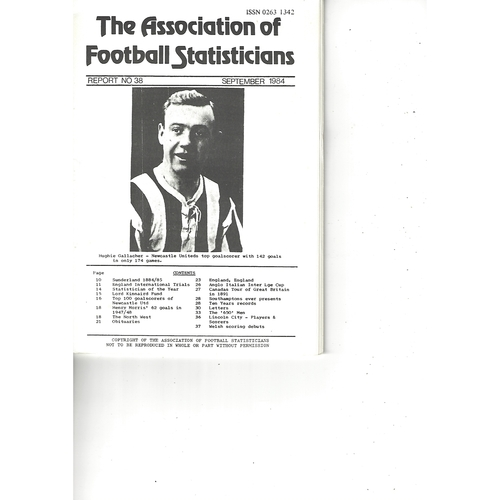 The Association of Football Statisticians Report No. 38