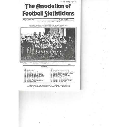 The Association of Football Statisticians Report No. 43