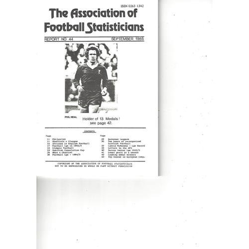The Association of Football Statisticians Report No. 44