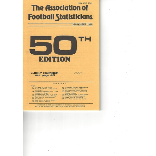 The Association of Football Statisticians Report No. 50