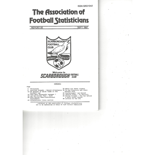 The Association of Football Statisticians Report No. 56