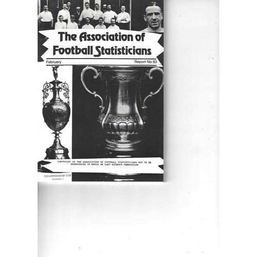 Football Statisticians Annuals