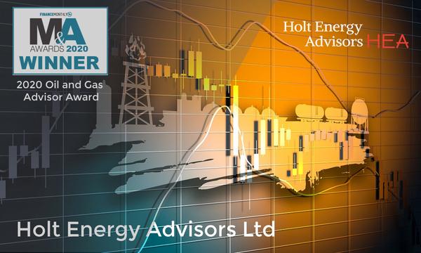 HEA wins Oil and Gas Advisor award in the 2020 Finance Monthly M&A Awards