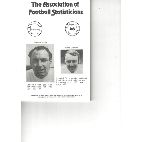The Association of Football Statisticians Report No. 66
