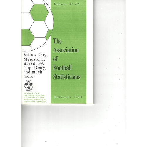 The Association of Football Statisticians Report No. 67