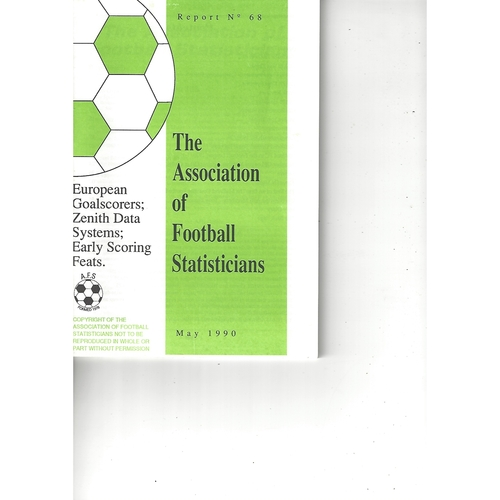 The Association of Football Statisticians Report No. 68