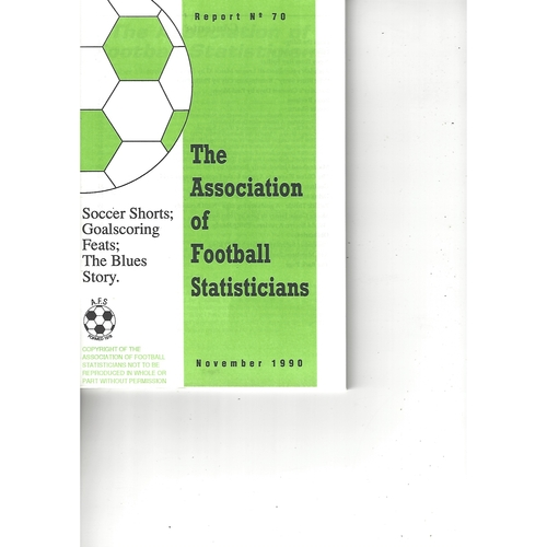 The Association of Football Statisticians Report No. 70