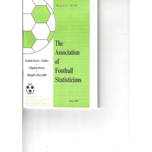 The Association of Football Statisticians Report No. 72