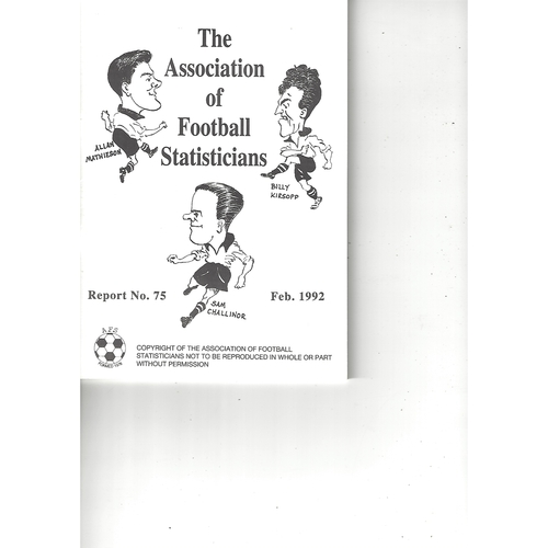 The Association of Football Statisticians Report No. 75