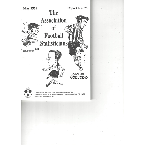 The Association of Football Statisticians Report No. 76