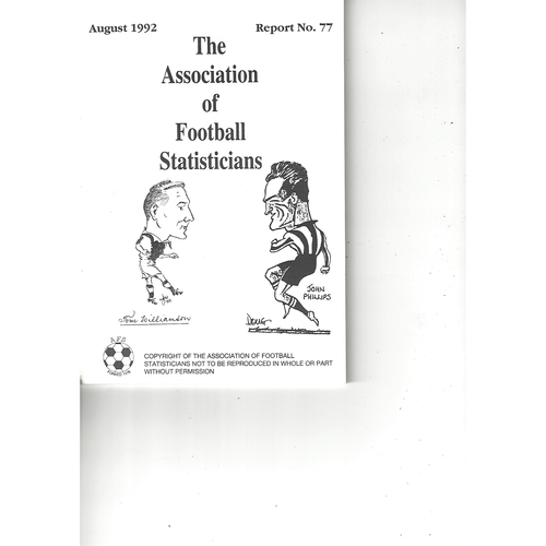 The Association of Football Statisticians Report No. 77