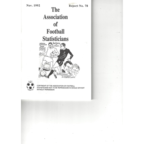 The Association of Football Statisticians Report No. 78