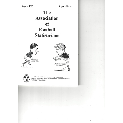The Association of Football Statisticians Report No. 81