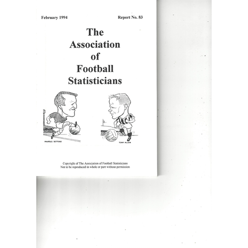 The Association of Football Statisticians Report No. 83