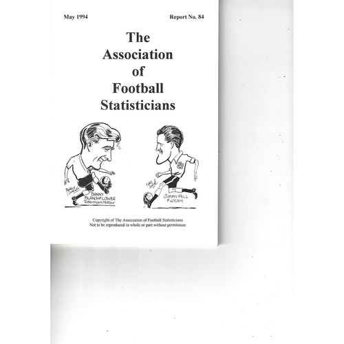 The Association of Football Statisticians Report No. 84