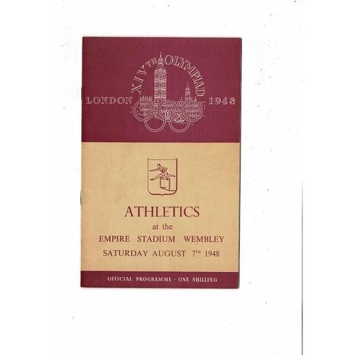 1948 London Olympic Athletics Programme August 7th @ Wembley