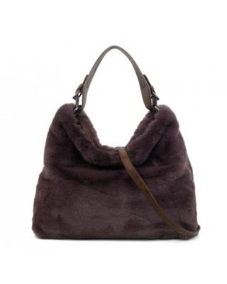 """""""Large"""" Faux Fur Bag"""