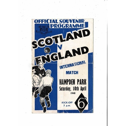 1948 Scotland v England Football Programme