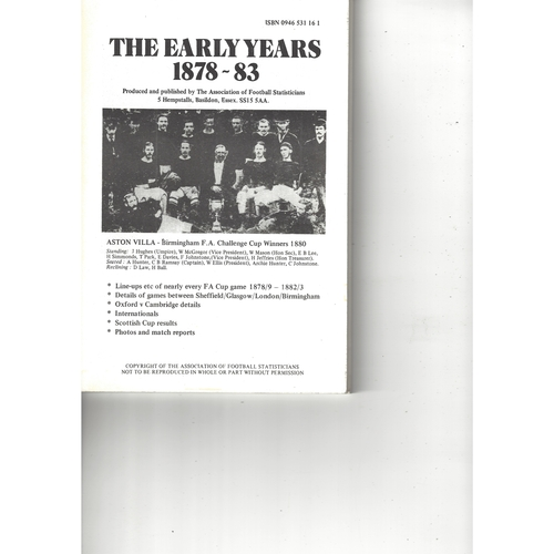 The Association of Football Statisticians The Early Years 1878-83