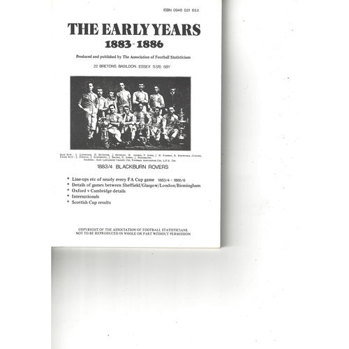 The Association of Football Statisticians The Early Years 1883-1886