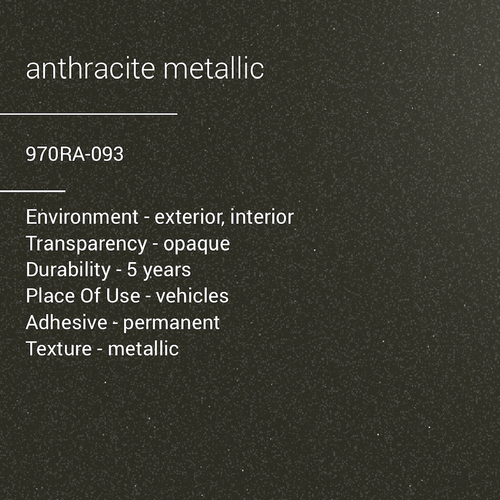 ORACAL® 970RA-093 - Anthracite Metallic