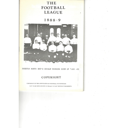 The Association of Football Statisticians The Football League 1888-1889