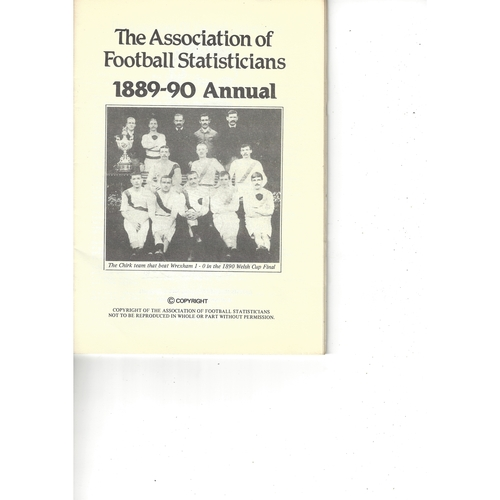 The Association of Football Statisticians 1889-90 Annual