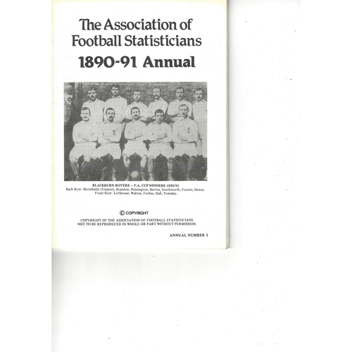 The Association of Football Statisticians 1890-91 Annual