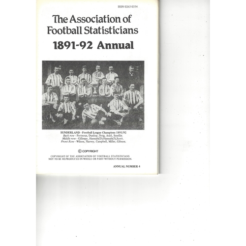 The Association of Football Statisticians 1891-92 Annual